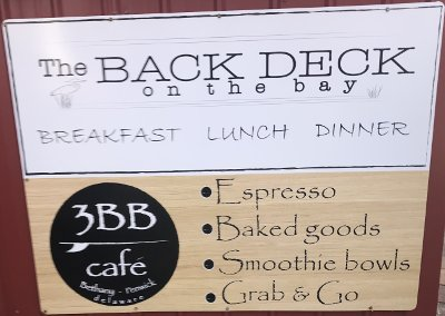 The Back Deck Sign